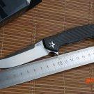 Zero telerance ZT Flipper 0452CF Folding Knife s35vn carbon fiber titanium Ball Bearing ge