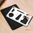 2pcs Multifunction 11 in 1 Wallet Credit Card knife Tactical Pocket Military Survival Camp