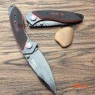 Buck laser folding knife outdoor self-defense with saber wilderness survival portable frui