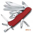 110mm Big Size Multi Functional Knife Red Swiss Stainless steel folding knife pocket survi