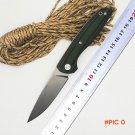 BMT F95 110 Tactical Survival Folding Knife D2 Blade Green G10 Handle Ball Bearing Knife C