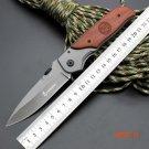 5CR13MOV Blade Survival Knife BROWNING Folding Knife Wood Handle Pocket Hunting Tactical K