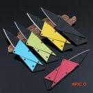10pcs Credit card folding knife stainless steel blade Steel Handle Wallet knives survival