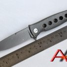 Mayo Russian Dr Death ceramic ball bearing Folding Knife D2 Titanium Carbon Fiber Camp Hun