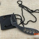 stainless steel Tactical Necklace survival Karambit  Knife fixed mini knife EDC free ship