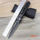Stainless steel folding knife camping outdoor Rescue survival Tactical Pocket Knives  Blac