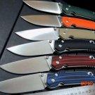 Hot sale . Custom Folding Knife G10 handle + D2 steel blade camping hunting knife outdoor