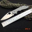440C Steel Folding Knife Spyder CTS 58HRC Hardness Survival Knives Hunting Tactical Knifes
