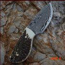 Bok hunting forging straight knife outdoor camping knife Damascus + antler powder processi