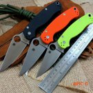 High quality C81 folding knife Copper washers D2 steel blade knife G10 Handle Camping Hun