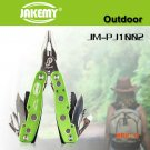 Jakemy PJ1002 Multi-function 9 in 1 Folding Tool Outdoor Camping Knife Plier Kit Army Surv