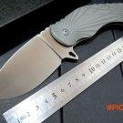 Custom bearing knife MDF-4 steel Scrub handle 9 cr13 steel blade folding knife outdoor cam