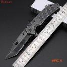 Dcbear New Pocket Tactical Folding Knife 440C Steel Blade Stone Wash Surface Knife Cryo Hi