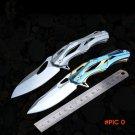 Tactical folding knife bearing flip camping survival pocket knives  blade outdoor hunting