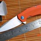 Jufule New ZT0456 Flipper folding knife ball bearing D2 blade G10 handle outdoor Survival