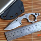 MG Arctic Fox fixed blade knife N690 Blade hunting straight KYDEX Sheath camping survival