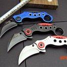 Karambit Knife Folding Knife SOG CNC 440C Steel Blade Steel Handle Survival Knifes Hunting