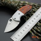 59-60HRC D2 Blade BROWNING Survival Knife Folding Knife Wood Handle Pocket Hunting Tactica