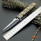 420J2 Blade New Folding Knife Titanium Coating G10 Handle WM-Boker Pocket Survival Knifes