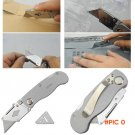Stainless Steel Utility knives Cut Paper Folding Art Knife Survival Hunting Pocket Knife C