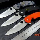 Custom C156 Folding Blade Knife CTS-204P Blade G10 Titanizing Steel Handle Camping Hunting