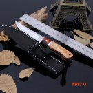 Stainless Steel Tactical Survival Knife Tools Wood Handle Camping Hunting Knives Fixed Bla