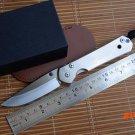 Fule large sebenza folding knife D2 blade TC4 Titanium handle camping hunting outdoor surv