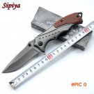 Good Quality 440C blade Steel + Wood handle Folding knife Outdoor camping utility tools su