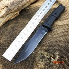 Rubber Handle VENOM Survival Tactical Knife Outdoor Camping Bowie Knife Hunting Fixed Blad