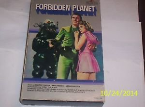 Forbidden Planet,VHS, Rare 1983 Oversized Flapbox Leslie Nielson Anne Francis