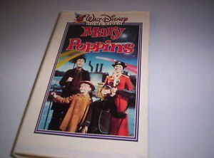 MARY POPPINS 1969 VHS Walt Disney Video Molded Clamshell vintage