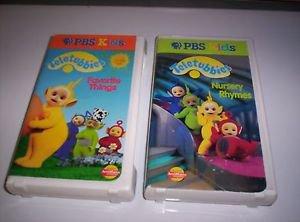TELETUBBIES VHS - 2 TAPES! Nursery Rhymes / Favorite Things - PBS Kids
