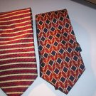 Lot of 2 Van Heusen Men's Neck Ties 100% Silk