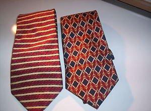 Lot of 2 Van Heusen Men's Neck Ties 100% Silk