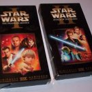 STAR WARS Episode 1 And 2 Phantom Menace - Attack Of The Clones VHS Tapes