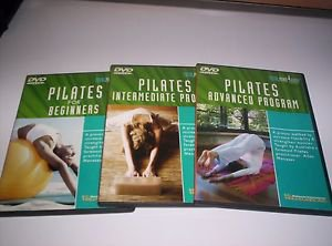 3 workout exercise fitness DVDs pilates for beginners, intermediate and advanced
