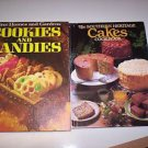 Lot of 2 Cookbooks, CAKES, CANDIES and COOKIES  HOLIDAY FAVORITES AND MORE