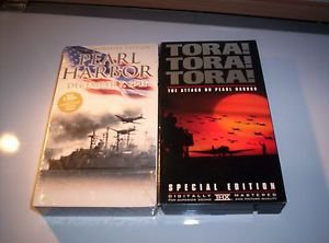 World War II -- Lot of 2 Pearl Harbor VHS Tapes, Tora, Tora, Tora & Documentory