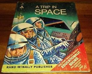 Vintage Rand McNally Elf Book A Trip In Space 1968 60s  NASA