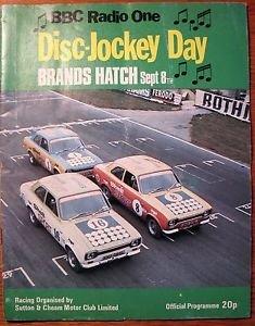 1974 Brands Hatch Disc-jockey day car race program