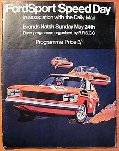 1970 Brands Hatch FORDSPORT SPEED DAY Auto Racing program