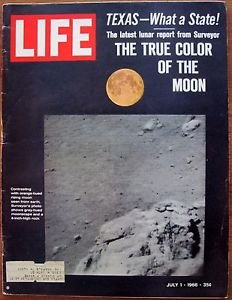 LIFE MAGAZINE JULY 1, 1966 THE TRUE COLOR OF THE MOON COVER