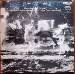 Eagle Has Landed OR BEST OFFER (Man's Journey To The Moon) 2 LP records VG/EX