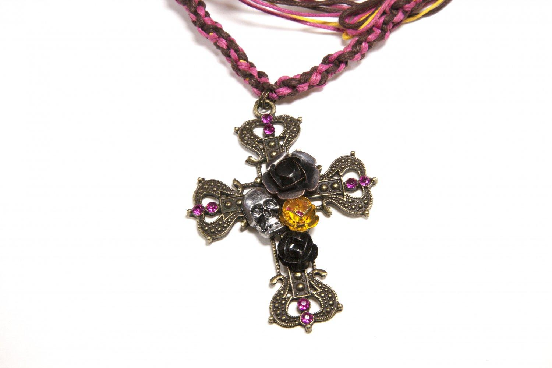 Hemp Cross Necklace