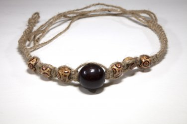 Brown and Tan Hemp Choker