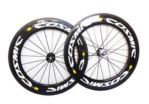 Carbon 88mm wheels clincher 700C full carbon fiber track bike wheelset