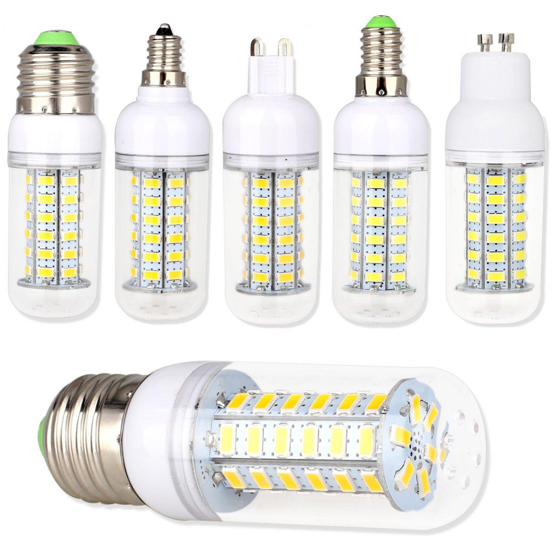 E12 E27 B22 GU10 E14 G9 5730 SMD LED Corn Bulb Lamp Light White AC 110V 220V 9W