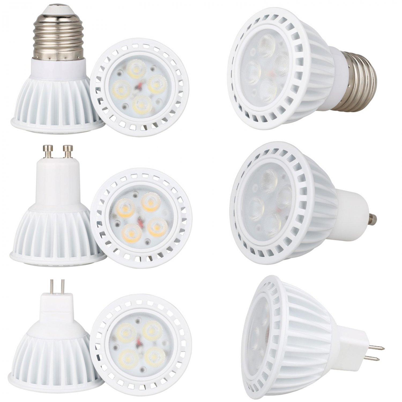 Dimmable 8W 3030 SMD LED SpotLight E26 E27 GU10 MR16 Bulbs Lamp 110V 220V 12V IC
