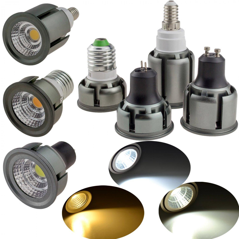 LED COB Spotlight 6W 9W 12W E26 E27 E14 GU10 GU5.3 Dimmable Bulb SMD Lamp Bright