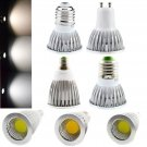 Dimmable LED COB Spotlight E26/E27/E14/GU10 Bulb 6W/9W/12W White Lamp Bright